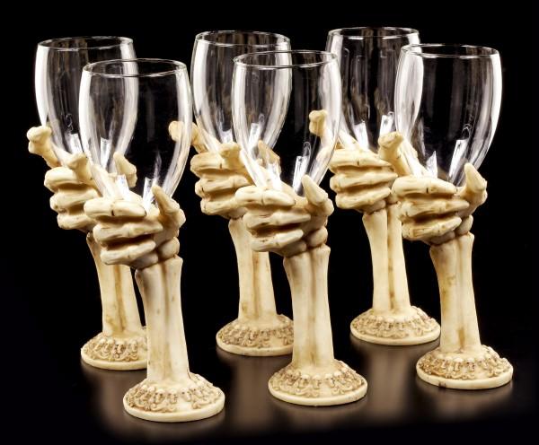 Skelett Gläser - The Final Toast - 6er Set