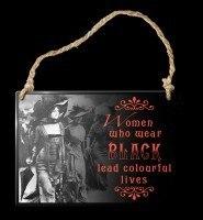 Alchemy Metallschild klein - Women Who Wear Black
