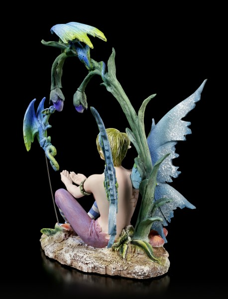Fairy Figurine - Young Karim with little Dragons