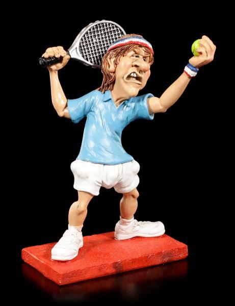 Tennisspieler Figur beim Aufschlag - Funny Sports