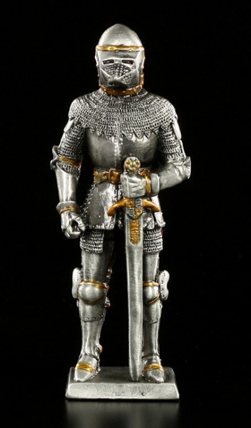 Pewter Knight standing with Sword