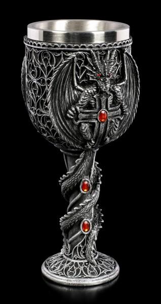 Drachen Kelch - Obsidian