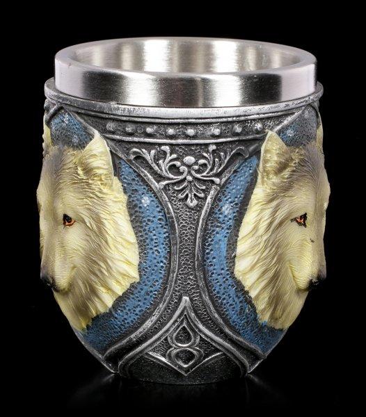 Trinkbecher - Grauer Wolf