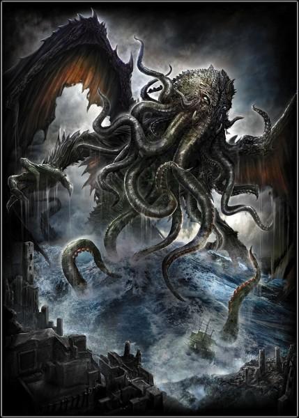 Spiral Fantasy Poster - Cthulhu
