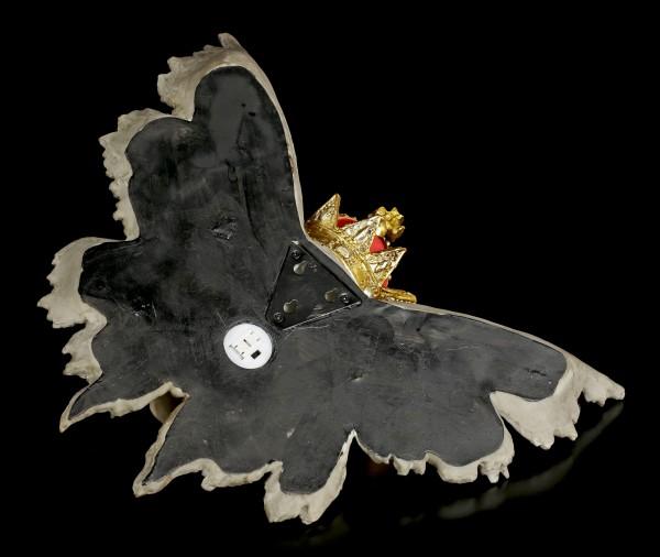Totenkopf Wandrelief mit Krone LED