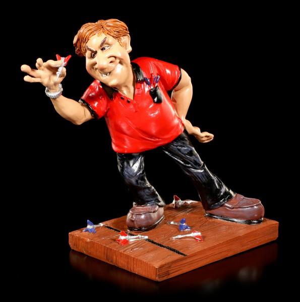 Dart Player Figurine throwing Arrow - Funny Sports