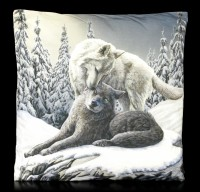 Cushion with Wolves - Snow Kisses