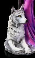 Schutzengel Figur - Arina mit Wolf