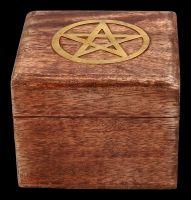 Holzbox - Messing Pentagramm