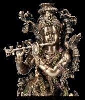 Krishna Figurine with Bamboo Flute Bansuri