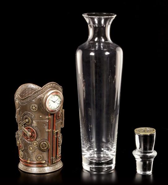 Steampunk Bottle Holder with Clock
