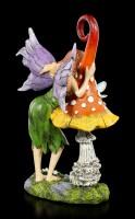 Fairy Figurine - Siana with Mushroom and Bird