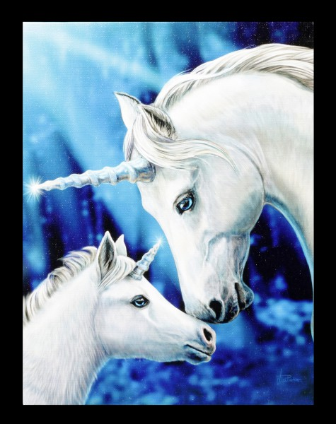 Small Canvas Unicorn - Sacred Love by Lisa Parker