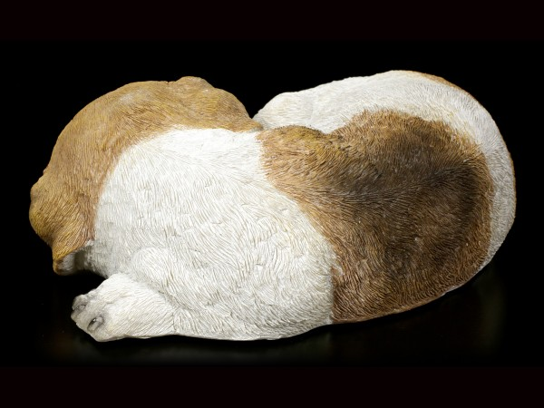 Garden Figurine - Jack Russel Puppy asleep