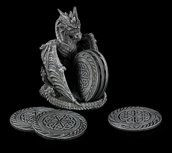 Untersetzer Set mit Drachenhalter - Dragons Lair