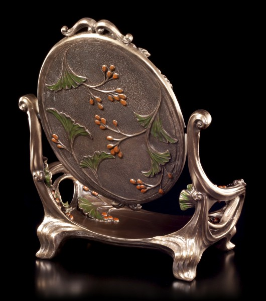 Art Nouveau Mirror with Tray