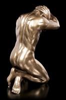 Male Nude Figurine - On Knees with Hands on Head