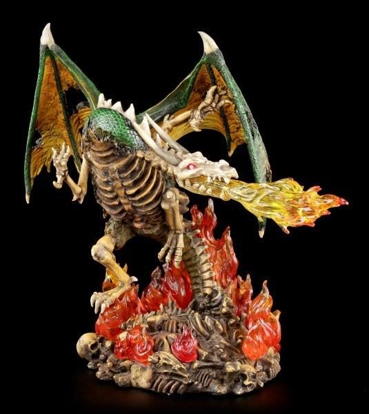 Drachen Figur mit roten Augen LED