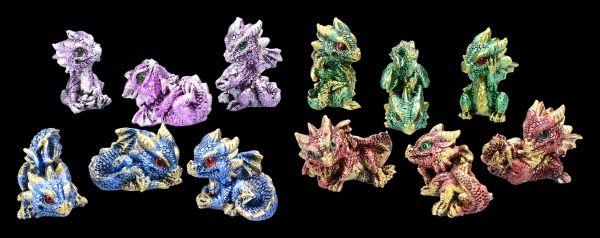 Mini Dragon Figurines - Set of 12 - Babys