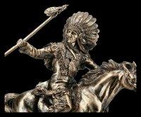 Indianer Figur - Häuptling reitend mit Speer