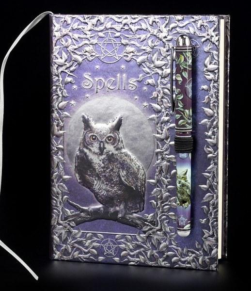 Hardcover Notizbuch mit Stift - Spells