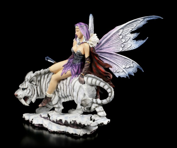 Fairy Figurine - Female Spell-Caster with Saber-Tooth Tiger