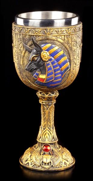 Kelch - Ägyptischer Gott Anubis