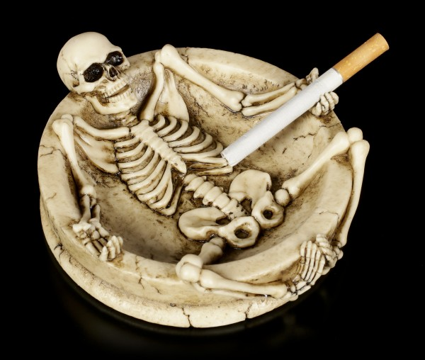 Ashtray with Skeleton