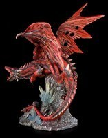 Große rote Drachen Figur - Red Fury