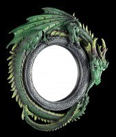 Runder Drachen Wandspiegel - Grün