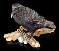 Crow Figurine - The Raven and the Key