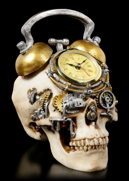 Steampunk Skull Clock