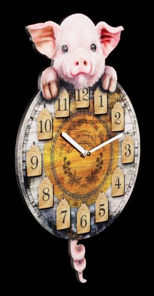 Clock with Piggy - Piggin' Tickin'