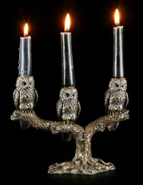 Candle Stick - Three Wise Owls