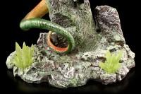 Drachen Figur - Green Wings auf Fels