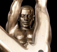 Männliche Akt Figur - Am Boden zur Dehnung