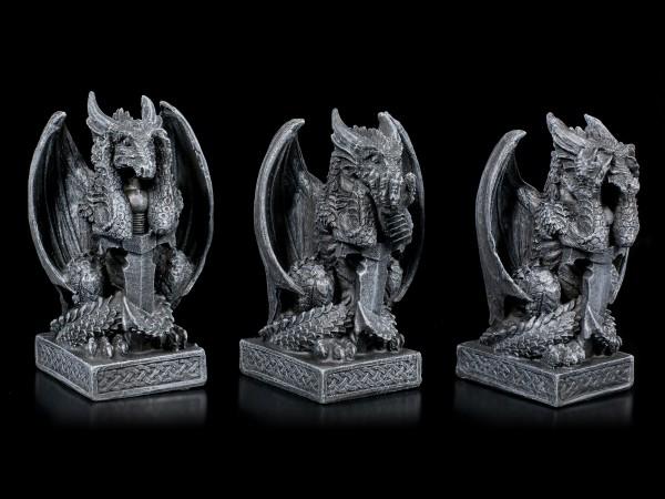 Three little Dragon Figurines - No Evil