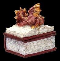Drachen Schatulle - Bedtime Stories - rot