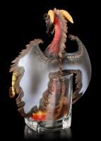 Drachen Figur im Rum Glas