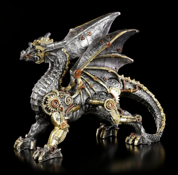 Steampunk Dragon Figurine - Dracus Machina - small