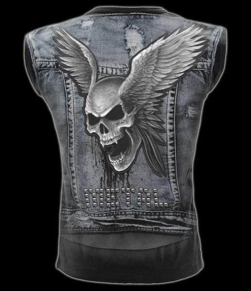 Ärmelloses Totenkopf Shirt - Thrash Metal