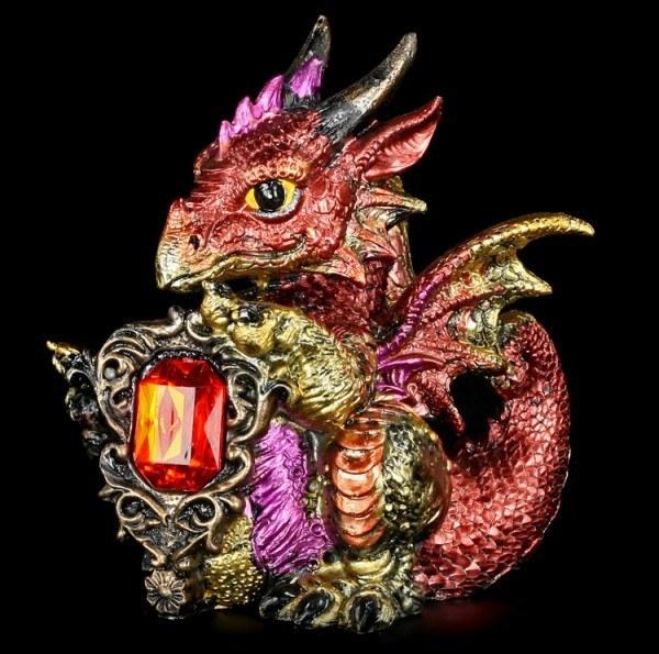 Vorschau: Drachen Figur - Ruby Dragonling