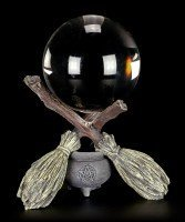 Crystal Ball Holder - Witch Broom