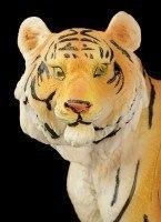 Tiger Figur - Sitzend auf dem Boden