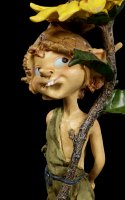 Pixie Goblin Figurine - Flower as Parasol