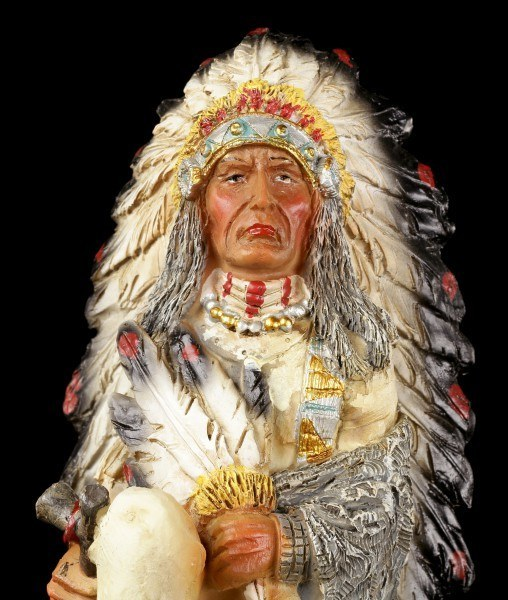 Indian Figurine - Sitting Chief