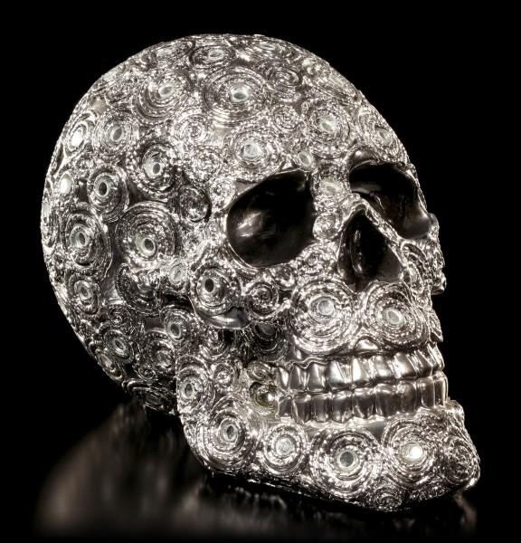 Totenkopf mit Spiegeln - Spiral Reflection mittel