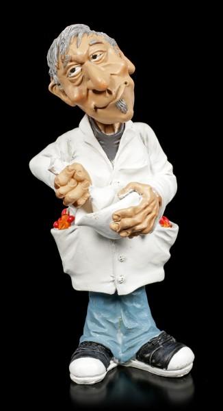 Funny Job Figur - Apotheker mixt neues Medikament
