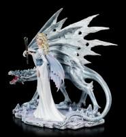 Elfen Figur - Calista mit Eisdrache