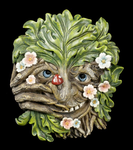 Wall Plaque Greenman - Nose Picker